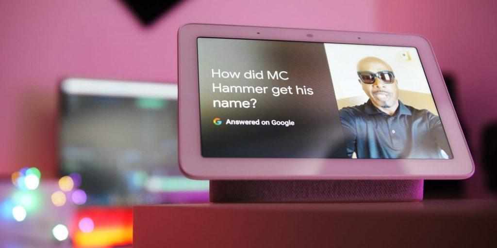 Google Home Hub stemmen