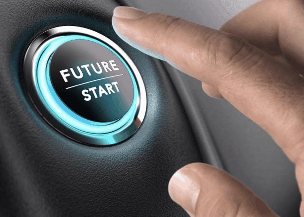 De voorruit van de toekomstige auto wordt volledig interactief